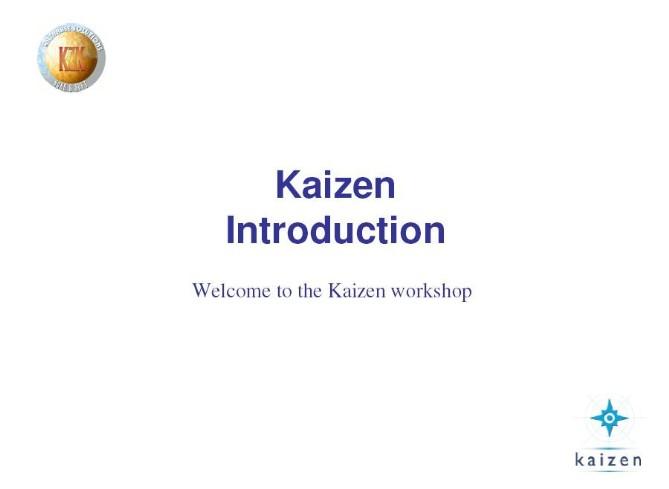 introduction to kaizen pdf